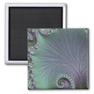 108-65 green & violet petals magnet