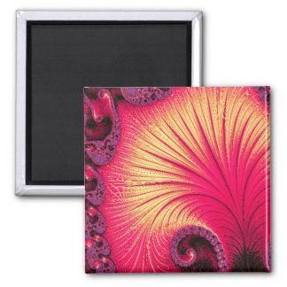 108-68 red & cream petals magnet
