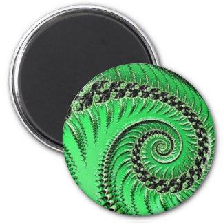 108-74 green leaf & spiral magnet