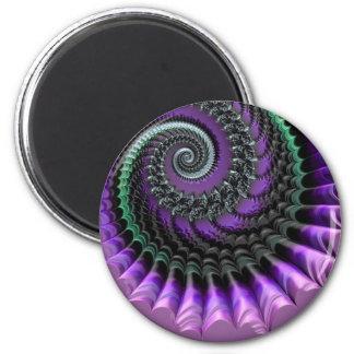 108-77 purple & green metallic spiral magnet