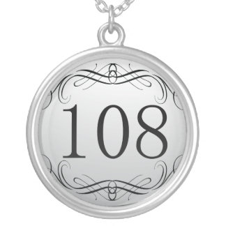 108 Area Code Silver Plated Necklace