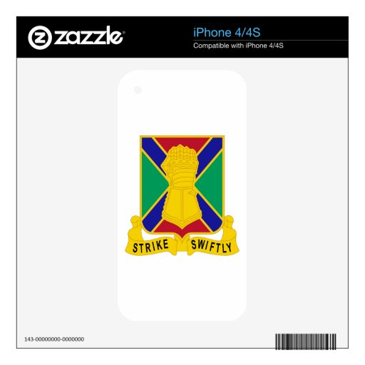 108 Armor Regiment Decal For The iPhone 4