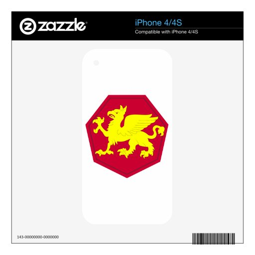 108 Div SSI Decals For iPhone 4