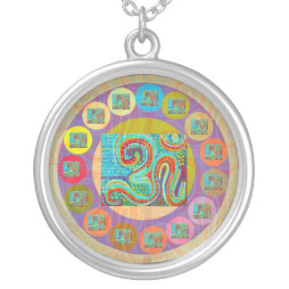 108 OM MANTRA SILVER PLATED NECKLACE