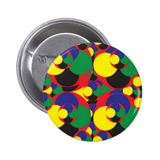 108 RANDOM ABSTRACT ROUND CIRCLES COLORFUL SHAPES BUTTON