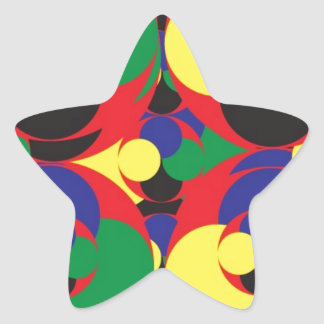 108 RANDOM ABSTRACT ROUND CIRCLES COLORFUL SHAPES STAR STICKER