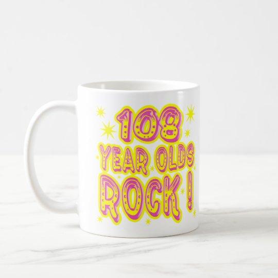 108 Year Olds Rock! (Pink) Mug