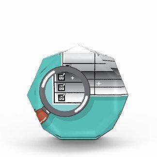 1099 Tax Form Zoom through Magnifying Glass Acrylic Award