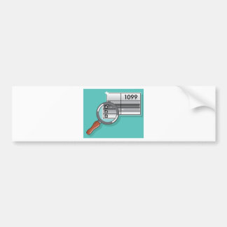 1099 Tax Form Zoom through Magnifying Glass Bumper Sticker