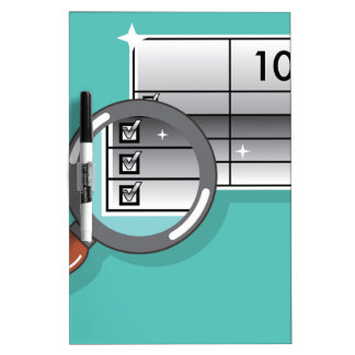 1099 Tax Form Zoom through Magnifying Glass Dry Erase Board