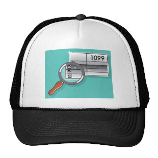 1099 Tax Form Zoom through Magnifying Glass Trucker Hat