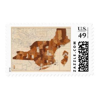 109 fiebre tifoidea NY, NJ, Nueva Inglaterra Sellos