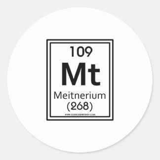109 Meitnerium Classic Round Sticker