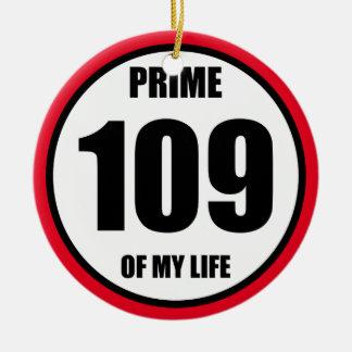 109 - prime of my life ceramic ornament