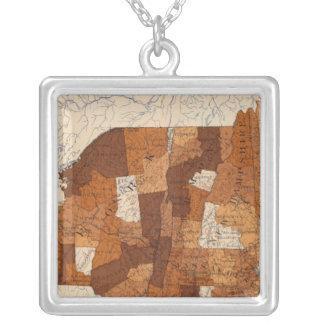109 Typhoid fever NY, NJ, New England Square Pendant Necklace