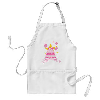 109 Year old Birthday Cake Adult Apron