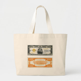 $10,000 Gold Certificate Bank Note 1934 Canvas Bag