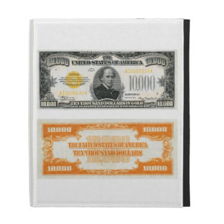$10,000 Gold Certificate Bank Note 1934 iPad Folio Covers