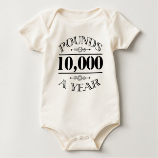 10,000 Pounds a Year Mr. Darcy baby Bodysuits