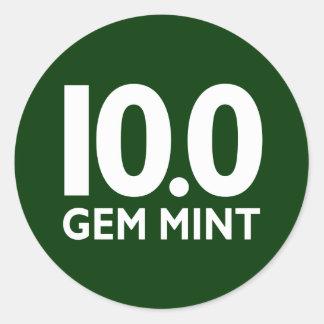 10 0 GEM MINT STICKER