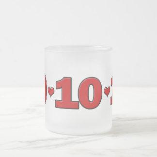 10-10-10 corazones taza de café
