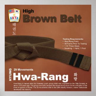 10-10 High Brown Belt Do-jang Poster