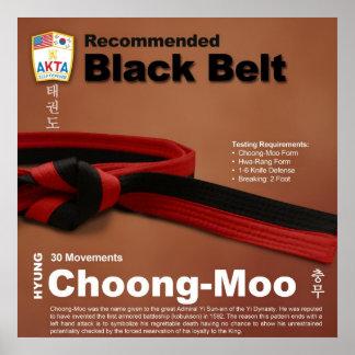 10-11 Recommended Black Belt Do-jang Poster