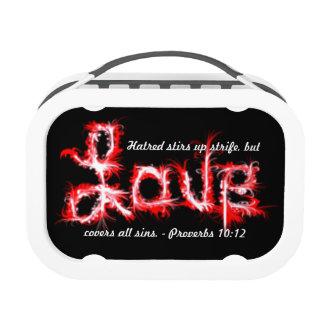 10:12 de los proverbios - ame el rojo artístico de