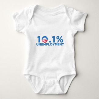 10.1 percent unemployment baby bodysuit