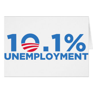 10.1 percent unemployment card