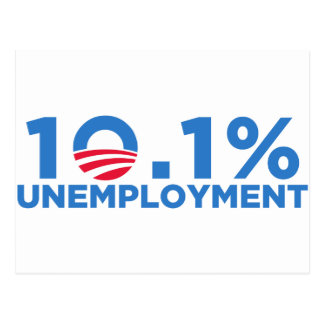 10.1 percent unemployment postcard