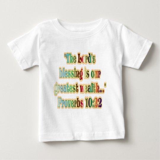 10:22 de los proverbios playera de bebé