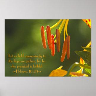 10:23 de los hebreos póster
