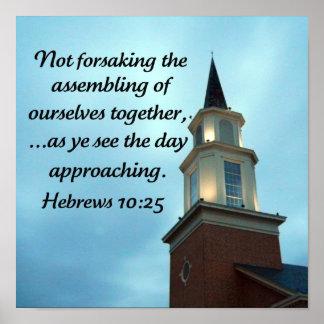10:25 de los hebreos póster