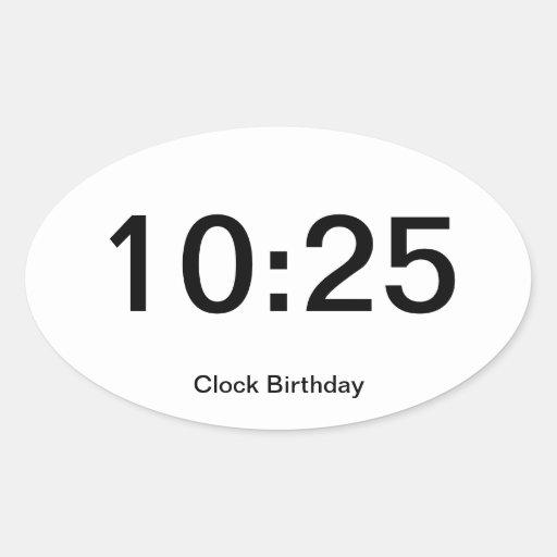10:25 del pegatina del cumpleaños del reloj