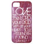10:27 de Lucas del verso de la biblia de la mente  iPhone 5 Case-Mate Cobertura