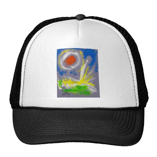 10-2 Abstract by Piliero Trucker Hat