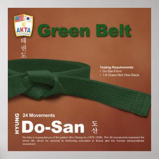 10-4 Green Belt Do-jang Poster