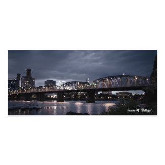10.61 x 24 Hawthorne Bridge Portland, Oregon Art Photo