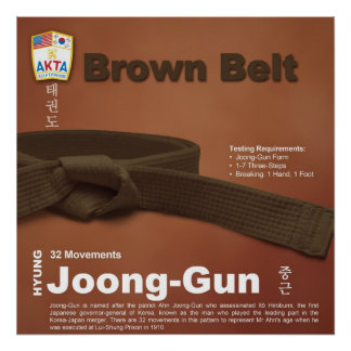 10-8 Low Brown Belt Do-jang Poster