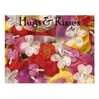 10 abrazos y besos postal