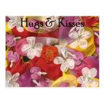 10 abrazos y besos tarjetas postales