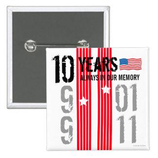 10 años 911 de botón cuadrado 2