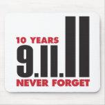10 años aniversario 11 de septiembre Mousepad Alfombrillas De Raton