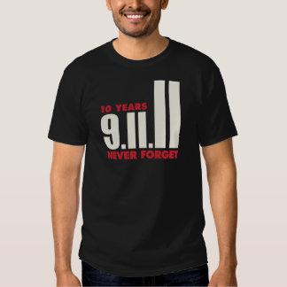 10 años aniversario camisa del 11 de septiembre