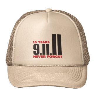 10 años aniversario gorra del 11 de septiembre