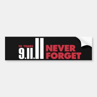 10 años aniversario pegatina para el parachoques d pegatina para auto
