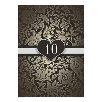 """10 años de boda del aniversario de invitaciones invitación 5"""" x 7"""""""