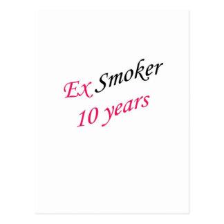 10 años de ex-fumador postal