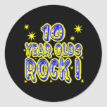 ¡10 años de la roca! Pegatina (del azul)